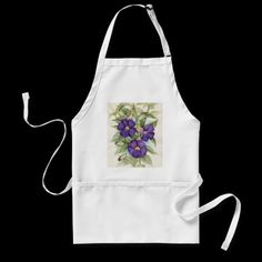 Purple Tropical Flower Painting Aprons