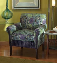 """""""Salon Chair Rising Lily""""  Upholstered Chair    Created by Mary Lynn O'Shea"""