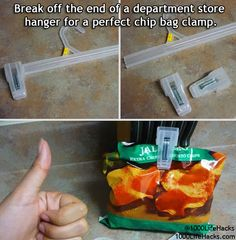 Oh no!!! Ermagherd! I'm out of chip clips! And My chippies are opened! Whatever will I do?!