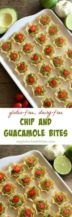 Chip and Guacamole Bites gluten-free appetizer recipe. Dairy-free too!