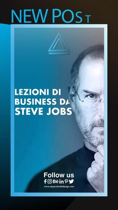 🤔 Quali lezioni possiamo imparare da Steve Jobs? 🗣Unisciti alla conversazione sui nostri canali social #stevejobs #strategy #stevejobsquotes #socialmediatips #marketing #marketingstrategy #businessonline #strategie #creativity #graphicdesigndaily #marketingitalia #businessitalia #socialmediamarketingtips #successtip #marketingtips #tips #agenziamarketing #apple #business #contentcreator #tips #contentmarketing #contentstrategy #socialmediaitalia #marketingitaliano #psicologiamarketing Steve Jobs, Stevia, Einstein, Success, Social Media, Marketing, Tips, Psicologia, Social Networks