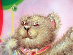 girls teddy bear mural,Glasgow by www.artisanartworks.com