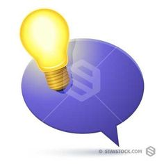 Lightbulb Ideas Speech Bubble