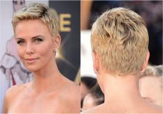 Pixie Hair: Amazing Pixie Hairstyle Photos: Charlize Theron's Platinum Pixie