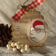 Handmade Christmas gift tags | Espero que les haya gustado el proyecto de la semana y nos vemos en la ...