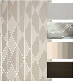 """""""Svetainės sieną už sofos nutariau dekoruoti gamintojo """"Cole & Son"""" vienais naujausių tapetų """"Oblique"""". Jų raštas kiek primena art deco motyvus: dinamiškos, tačiau kartu aiškios linijos, sidabro spalvos blizgesys – viskas, ko reikia išraiškingam svetainės kambariui. Likusias sienas dažau švelnia smėline spalva, identiška tapetų fonui."""" – dizainerė Vaida Žemaitytė. Cole&Son tapetas, Oblique, 105/11046 + Magnum…"""