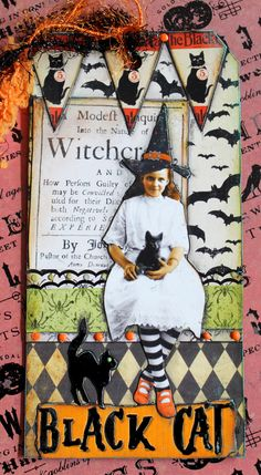 Witchcraft - for Halloween tag swap.  Graphics from Deviant Scrap