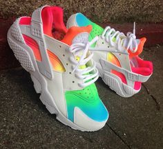 Custom lifesavers Nike Huarache any colors brand new by nachokicks