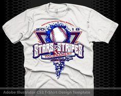 Fireworks Baseball Shirt Design