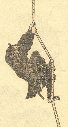 Ninja  This is painted by Hokusai Katsushika, who is famous as an Ukiyoe artist in Edo period.