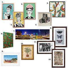Sugestões de quadros para decorar a parede da sua casa. Todos da Mobly.