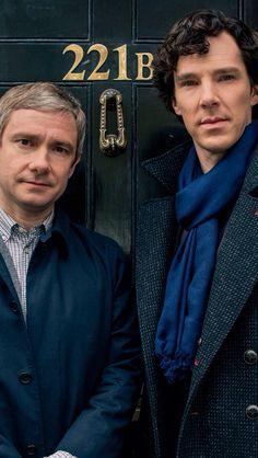 Benedict Cumberbatch as Holmes and Martin Freeman as Dr John Watson in Sherlock (BBC, Benedict Sherlock, Sherlock John, Bbc Sherlock Holmes, Sherlock Series 3, Sherlock Holmes Benedict Cumberbatch, Sherlock Fandom, Sherlock Season, Watson Sherlock, Moriarty