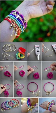 Diy Friendship Bracelets With Charms, Handmade Bracelets, Jewelry Bracelets, Summer Bracelets, Diy Friendship Charm Bracelets, Diy Bracelets Charms, Colorful Bracelets, Braclets Diy, Diy Accessories