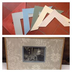 TÉCNICA DEL PASPARTÚ Consiste en recortar un cartón de color para separar la obra del cristal. Debe resaltar la obra, y concordar con ésta y el marco. En la foto podéis ver distintos colores y texturas de #paspartú y otro ya terminado.