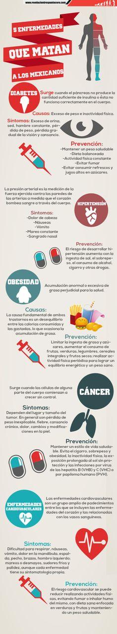 5 enfermedades que matan a los mexicanos #infografia