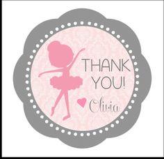 PRINTABLE Ballerina Thank You Tags Customizable
