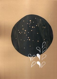 dark constellation & sprout by christinetillman on Etsy