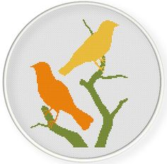 INSTANT DOWNLOAD,Free shippingCounted Cross-Stitch PDF,birds pattern,zxxc0584