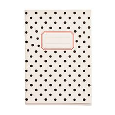 O-Check For Top Hat Medium Pattern Notebook. Throw a polka dot on anything and I'm sold. I'd be happy to tote this adorable notebook around everywhere.