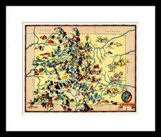 Colorado Map Map of Colorado Vintage Map Print by InnovativeMaps