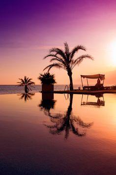 Atardecer desde el Beach Club Estrella del Mar (Marbella)