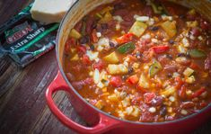 Packed with goodness and flavor, this quick and easy lactose free vegetable chili makes for a delicious dinner the whole family will love.