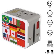 Rocclo Universal All in One Worldwide Travel Power Plug W...