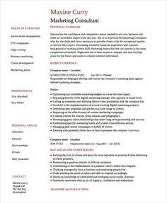 Sales Consultant Resume Marketing Sales Associate Resume  Marketing Resume Samples For
