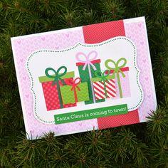 Here Comes Santa Claus - Doodlebug Christmas Cards - DIY