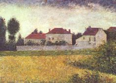 White Houses, Ville d'Avray - Georges Seurat - The Athenaeum Georges Seurat, Liverpool, Seurat Paintings, Pictures For Sale, Oil Painting Pictures, Art Gallery, Walker Art, Impressionist Artists, Fauvism