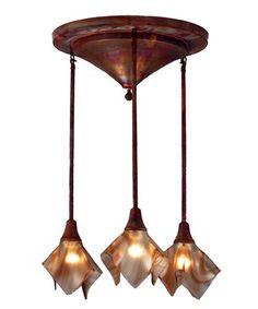 Meyda Lighting 72637 Cognac Swirl Handkerchief 24 Inch Flush Mount