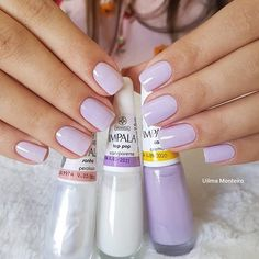 Unhas delicadas, unhas inglesinhas, cabelo e unhas, unhas claras, unhas decoradas delicadas Nail Ring, Manicure And Pedicure, Nails Polish, Toe Nails, Uñas Diy, Vacation Nails, Nails 2018, Gorgeous Nails, Trendy Nails
