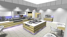 Restaurant / Servery Design 3D Visual – by Space Catering