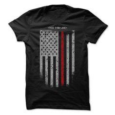 (Tshirt Order) RED THIN LINE [Tshirt Best Selling] Hoodies, Tee Shirts