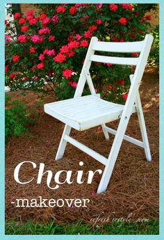 Chair Makeover - #diyproject #paintedproject #furnituremakeover