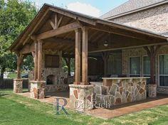 Dallas Landscape Architects, cocinas al aire libre, chimeneas – Dallas, McKinney, … – Mi Hermoso Mundo Outdoor Kitchen Patio, Casa Patio, Outdoor Kitchen Design, Pergola Patio, Pergola Kits, Rustic Outdoor Kitchens, Deck Gazebo, Small Patio, Pergola Ideas