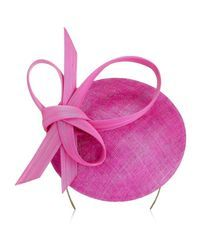 Philip Treacy | Pink Knotted Buntal Hat | Lyst