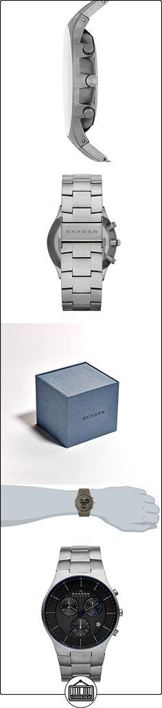 Skagen  - Reloj  de Cuarzo para Hombre, correa de Titanio color Plateado  ✿ Relojes para hombre - (Gama media/alta) ✿