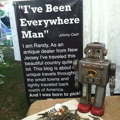 """Randy """"the Jersey Picker"""" his Booth at Texas Rose Antique show ,Round Top,Tx"""