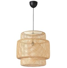 Designer Ilse Crawford created this lampshade made of bamboo lattice. The woven material gives a warm, welcoming glow and casts decorative light patterns in the room. Each lamp is handmade and unique. Rattan Light Fixture, Wicker Pendant Light, Rattan Lamp, Modern Pendant Light, Light Fixtures, Wicker Lamp Shade, Chandelier Design, Pendant Lighting Bedroom, Pendant Lamps