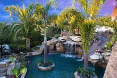 custom pool slide exterior design by lucas congdon with lucas lagoons ...