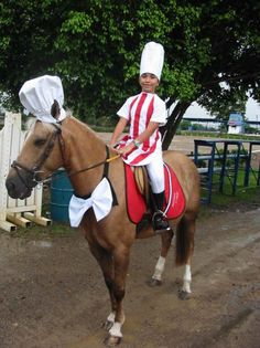 Chef horse costume