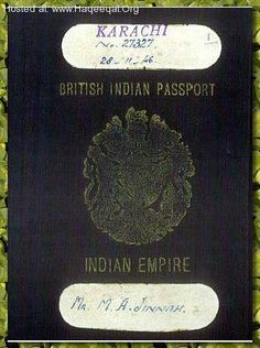 Quaid e Azam' s Passport .