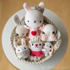 Bunnies, bunnies, & more bunnies!  All free crochet patterns!