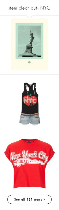 """""""item clear out- NYC"""" by jennifertrimble ❤ liked on Polyvore featuring premades, tops, crop top, petite, red, cut-out crop tops, petite tops, cropped tops, topshop tops and red crop top"""