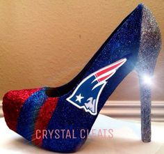 NFL New England PATRIOTS Football high heel by CrystaLCleats
