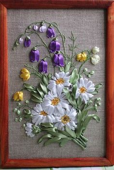 Bells and daisies #ribbonEmbroidery
