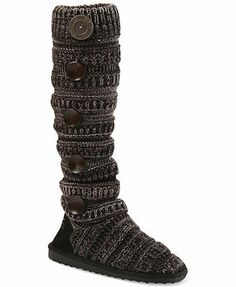 Muk Luks Boots, Miranda 5 Button Sock Boots