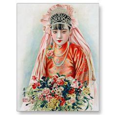 Chinese Bride Postcard
