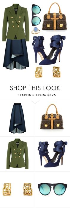 """""""Be beautiful"""" by the-pink-poppy ❤ liked on Polyvore featuring Sachin + Babi, Louis Vuitton, Balmain, Alice + Olivia, Alexander Wang and Latelita"""